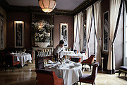 "The gourmet restaurant "" Le pressoir d'argent ""  of the famous chef Gordon Ramsay"