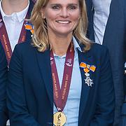 NLD/Den Haag/20171025 - Koning ontvangt winnaar EK voetbal Vrouwen 2017, Sarina Glotzbach-Wiegman