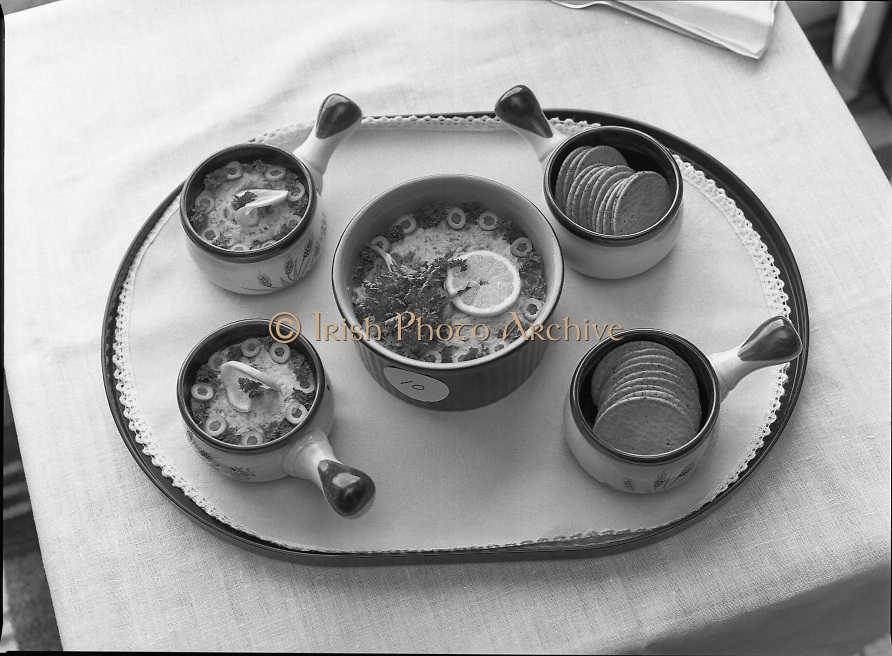 """The National Fish Cookery Award""..29.04.1982..04.29.1982.29th April 1982.1982..This competition sponsored by Bord Iascaigh Mhara was held in The Clare Inn, Newmarket-on Fergus,Co Clare. the competition was open to schools across the country..""Kippered Mackerel Pate"",was the second placed dish from,Miriam Henshaw,(15),Holy Faith Convent,The Coombe,Dublin."