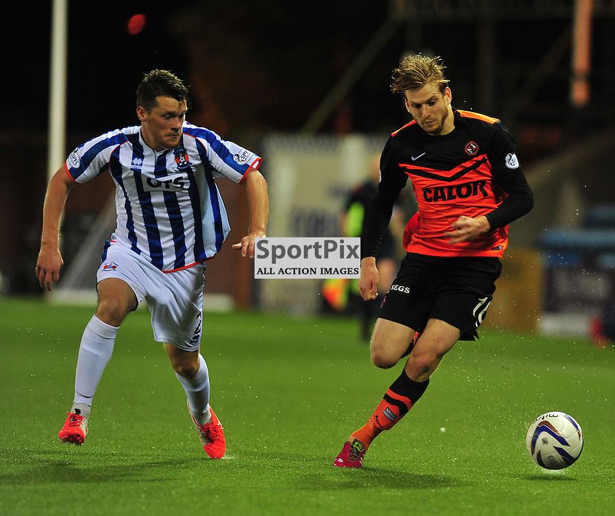 Stuart Armstong of United battles Ross Barbour of Killie (c) BILLY WHITE | SportPix.org.uk