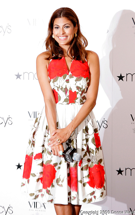 Actress Eva Mendes launches 'Vida by Eva Mendes' at Macy's in  Herald Square  in New York City, USA on July 25, 2009.
