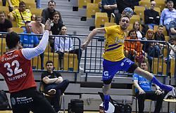 Gal Marguc during handball match between RK Celje Pivovarna Lasko and RK Gorenje Velenje in last round of Liga NLB 2018/19, on May 31st, 2019, in Arena Zlatorog, Celje, Slovenia. RK Celje PL became Slovenian National Champion in year 2019. Photo by Milos Vujinovic / Sportida