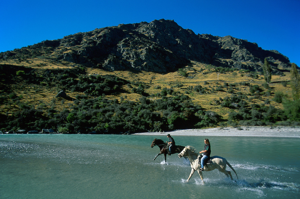 Horseback riding near Queenstown