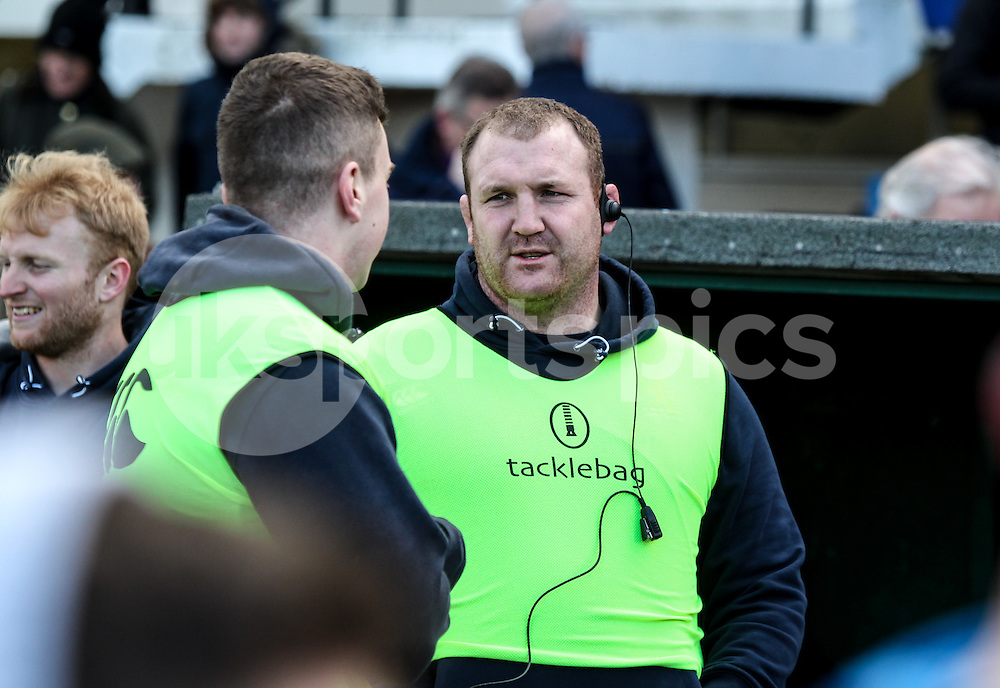 during the Green King IPA Championship match between London Scottish &amp; Moseley at Richmond, Greater London on 21st February 2015<br /> <br /> Photo: Ken Sparks | UK Sports Pics Ltd<br /> London Scottish v Moseley, Green King IPA Championship, 21st February 2015<br /> <br /> &copy; UK Sports Pics Ltd. FA Accredited. Football League Licence No:  FL14/15/P5700.Football Conference Licence No: PCONF 051/14 Tel +44(0)7968 045353. email ken@uksportspics.co.uk, 7 Leslie Park Road, East Croydon, Surrey CR0 6TN. Credit UK Sports Pics Ltd