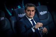 Valverde,FC Barcelona coach during the Spanish league football match of 'La Liga'  FC BARCELONA against RAYO VALLECANO at Camp Nou Stadium of Barcelona on March 9,2019