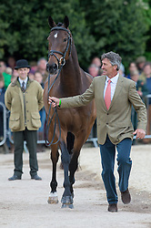 Nicholson Andrew, (NZL), Calico Joe<br /> First Horse Inspection - Mitsubishi Motors Badminton Horse Trials <br /> Badminton 2015