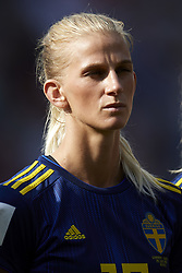 June 29, 2019 - Rennes, France - Sofia Jakobsson (Montpellier HSC) of Sweden during the 2019 FIFA Women's World Cup France Quarter Final match between Germany and Sweden at Roazhon Park on June 29, 2019 in Rennes, France. (Credit Image: © Jose Breton/NurPhoto via ZUMA Press)