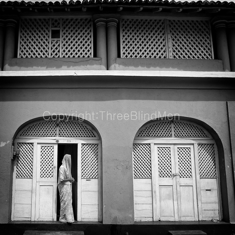 Old home on Main Street of Southern town of Matara.