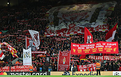 Liverpool fans in the stands show their support