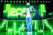 "Chris Brown performs during his ""One Hell of a Nite"" Tour at the Sprint Center on Wednesday, Aug. 12, 2015, in Kansas City, MO. (Photo by Colin E. Braley/Invision/AP)"