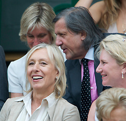 LONDON, ENGLAND - Saturday, June 26, 2010: Former Wimbledon winners Martina Navratilova and Ilie Nastase in the Royal Box on Centre Court on day six of the Wimbledon Lawn Tennis Championships at the All England Lawn Tennis and Croquet Club. (Pic by David Rawcliffe/Propaganda)