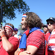 Ryder Cup 2016. Day Three. Spectators watching the action on the fifteenth tee during the Sunday singles competition at  the Ryder Cup tournament at Hazeltine National Golf Club on October 02, 2016 in Chaska, Minnesota.  (Photo by Tim Clayton/Corbis via Getty Images)