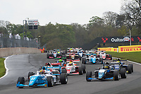 #26 Harry HAYEK (AUS) Double R Racing during British F3 Championship as part of the BRDC British F3/GT Championship Meeting at Oulton Park, Little Budworth, Cheshire, United Kingdom. April 17 2017. World Copyright Peter Taylor/PSP.