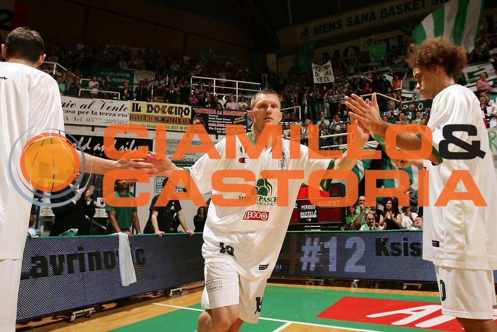 DESCRIZIONE : Siena Lega A1 2007-08 Playoff Semifinale Gara 1 Montepaschi Siena Armani Jeans Milano <br /> GIOCATORE : Rimantas Kaukenas <br /> SQUADRA : Montepaschi Siena <br /> EVENTO : Campionato Lega A1 2007-2008 <br /> GARA : Montepaschi Siena Armani Jeans Milano <br /> DATA : 22/05/2008 <br /> CATEGORIA : Ritratto <br /> SPORT : Pallacanestro <br /> AUTORE : Agenzia Ciamillo-Castoria/P.Lazzeroni