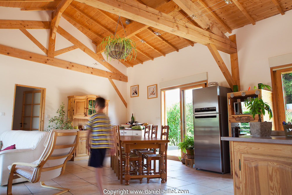 Maison bois a Pizay, Ain