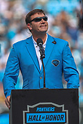 Sunday, October 6, 2019; Charlotte, N.C., USA;  Former Carolina Panthers quarterback Jake Delhomme was inducted into the Panthers Hall of Honor during an NFL game at Bank of America Stadium. The Carolina Panthers beat the Jacksonville Jaguars 34-27. (Brian Villanueva/Image of Sport)