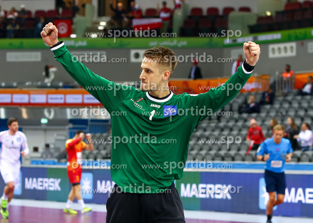 23.01.2015, Ali Bin Hamad Al Attiyah Arena, Doha, QAT, IHF, Handball Weltmeisterschaft der Herren, Gruppe B, Österreich vs Mazedonien, im Bild Thomas Bauer (AUT) // during the IHF Handball World Championship group B match between Austria and Macedonia at the Ali Bin Hamad Al Attiyah Arena, Doha, Qatar on 2015/01/23. EXPA Pictures © 2015, PhotoCredit: EXPA/ Sebastian Pucher