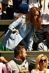© Licensed to London News Pictures. 02/07/2016. KIN SEARS watches tennis from the Royal Box on the centre court on the sixth day of the WIMBLEDON Lawn Tennis Championships.  London, UK. Photo credit: Ray Tang/LNP