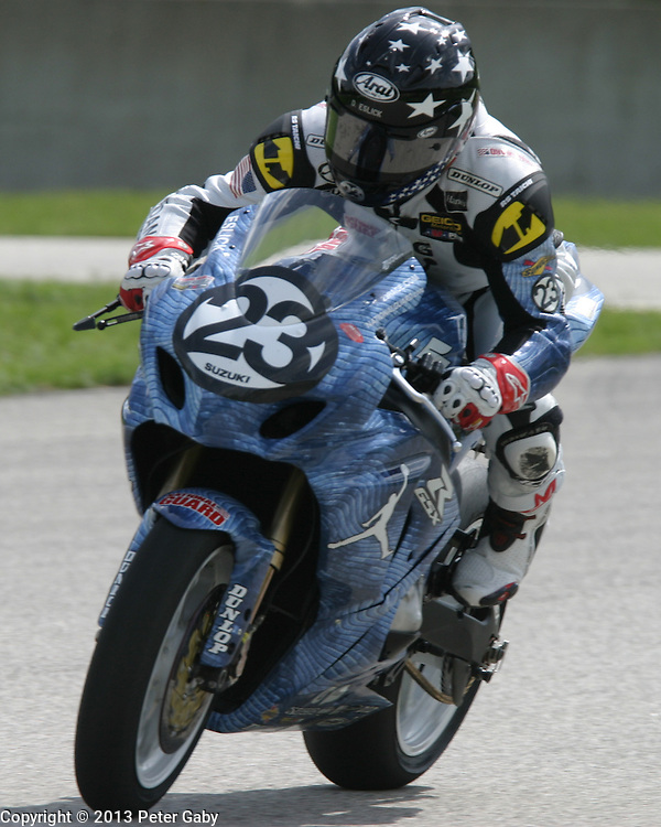 AMA Pro National Guard SuperBike Qualifying during the 2013 Subway SuperBike Doubleheader held at  Road America,  Elkhart Lake,  WI. on June 1, 2013.