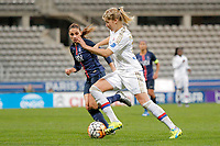 Ada Hegerberg (Olympique Lyonnais), Houara-d Hommeaux Jessica (PSG women) during the Women's French Championship D1 football match between Paris Saint Germain and Olympique Lyonnais on February 5, 2016 at Charlety stadium in Paris, France - Photo Stephane Allaman / DPPI