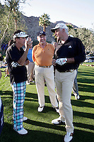 24 January 2009: Celebrity golfer Alice Cooper and John O'Hurley at Palmer Private at PGA West in La Quinta, California during the fourth round of play at the 50th Bob Hope Classic, PGA golf tournament.