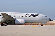 Israel, Ben-Gurion international Airport Malev Hungarian Airlines Boeing 737-800 landing