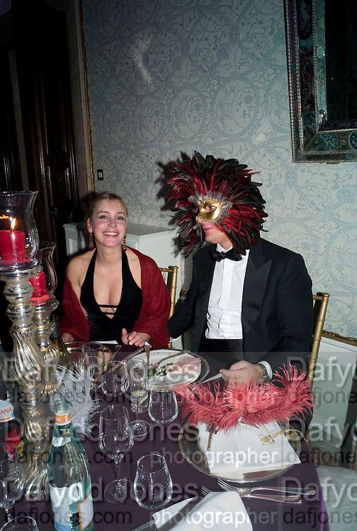 ALESSANDRA BORGA; EDUARDO GHERALDINI, Francesca Bortolotto Possati, Alessandro and Olimpia host Carnevale 2009. Venetian Red Passion. Palazzo Mocenigo. Venice. February 14 2009.  *** Local Caption *** -DO NOT ARCHIVE -Copyright Photograph by Dafydd Jones. 248 Clapham Rd. London SW9 0PZ. Tel 0207 820 0771. www.dafjones.com<br /> ALESSANDRA BORGA; EDUARDO GHERALDINI, Francesca Bortolotto Possati, Alessandro and Olimpia host Carnevale 2009. Venetian Red Passion. Palazzo Mocenigo. Venice. February 14 2009.