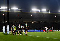 Rugby Union - 2018 / 2019 Gallagher Premiership - Harlequins vs. Leicester Tigers<br /> <br /> Leicester Tigers' George Ford kicks a penalty to put his side into the lead at half time, at The Stoop.<br /> <br /> COLORSPORT/ASHLEY WESTERN