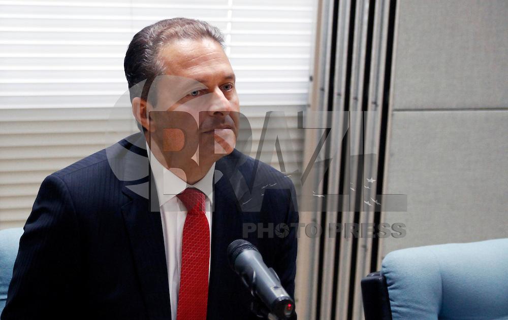 SAO PAULO, SP, 05 DE MARCO 2012 - PALESTRA GOVERNADOR DE PERNAMBUCO EDUARDO CAMPOS - Governador do Estado de Pernambuco, Eduardo Campos, durante coletiva de imprensa no Edifício Sede da Associação Comercial de São Paulo- ACSP, na regiao central da capital paulista na manha desta segunda-feira, 05. (FOTO: WILLIAM VOLCOV / BRAZIL PHOTO PRESS).