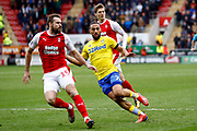 Leeds United midfielder Kemar Roofe (7) in action  during the EFL Sky Bet Championship match between Rotherham United and Leeds United at the AESSEAL New York Stadium, Rotherham, England on 26 January 2019.