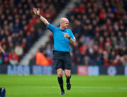 BOURNEMOUTH, ENGLAND - Saturday, December 8, 2018: Referee Lee Mason during the FA Premier League match between AFC Bournemouth and Liverpool FC at the Vitality Stadium. (Pic by David Rawcliffe/Propaganda)