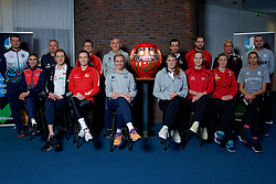 06–01-2020 NED: CEV Tokyo Volleyball European Qualification Women, Apeldoorn<br /> Press moment and representatives of the eight national teams for one spot Tokyo 2020 / Daruma, the founder of the Zen and players and coaches Maret Balkestein-Grothues #6 of Netherlands, Coach Giovanni Caprara of Netherlands