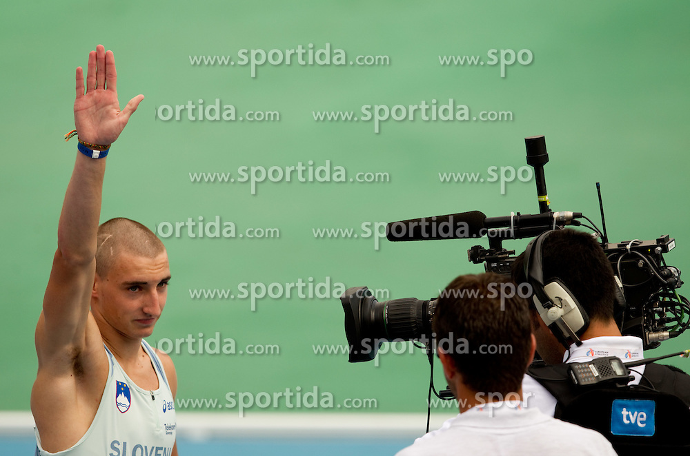 Uros Jovanovic as a first Slovenian sprinter during  the 4x400m Mens Relay Heats during day five of the 20th European Athletics Championships at the Olympic Stadium on July 31, 2010 in Barcelona, Spain.  (Photo by Vid Ponikvar / Sportida)