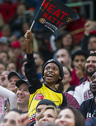 January 7, 2018 - Miami, FL, USA - Miami Heat fans cheer during a timeout in the fourth quarter during a game against the Utah Jazz on Sunday, Jan. 7, 2018 at the AmericanAirlines Arena in Miami, Fla. The Miami Heat defeated the Utah Jazz, 103-102. (Credit Image: © Matias J. Ocner/TNS via ZUMA Wire)