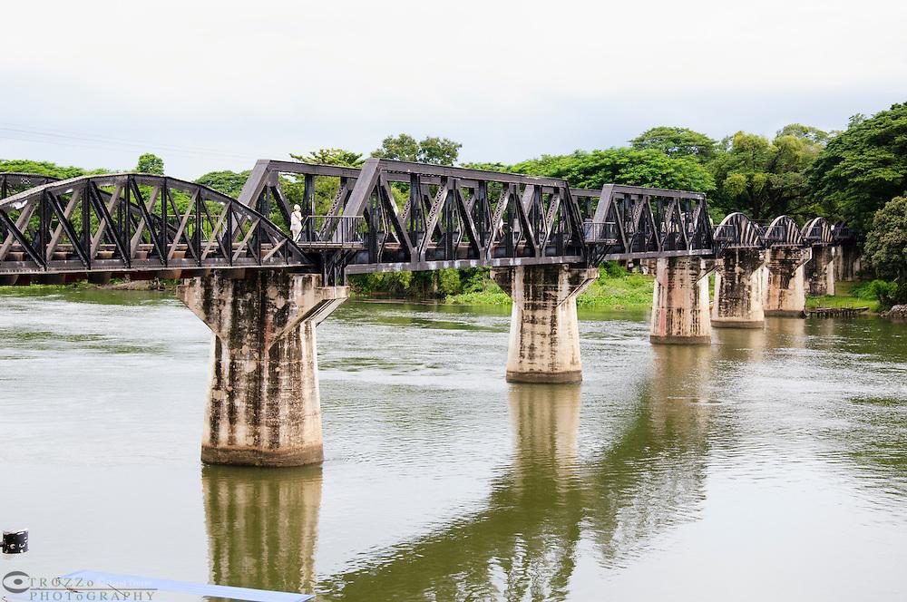 Bridge over the river Kwai, Death Railway, Kanchanaburi, Thailand