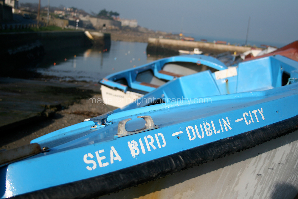 Boat called the Sea Bird at Bulloch Harbour in Dalkey Dublin Ireland
