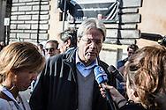 Emiliano Albensi<br /> 29/10/2016 Roma (Italia)<br /> Manifestazione PD Basta un S&igrave;<br /> Nella foto: il ministro degli Esteri, Paolo Gentiloni<br /> <br /> Emiliano Albensi<br /> 29/10/2016 Rome (Italy)<br /> Democratic Party demonstration in support of the Constitutional Reform referendum<br /> In the picture: the minister of Foreign Affairs, Paolo Gentiloni