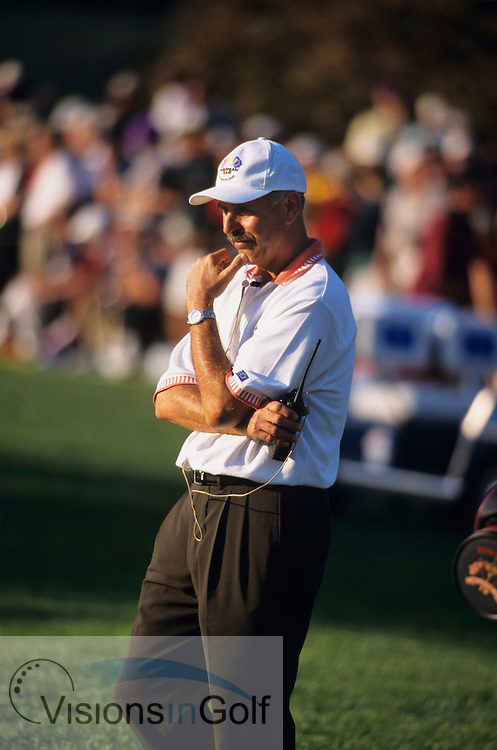 990927 / THE COUNTRY CLUB, BROOKLINE, BOSTON, <br /> USA / PHOTO MARK NEWCOMBE / 33rd RYDER CUP 1999<br /> European captain Mark James