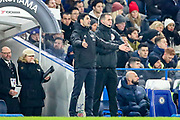Arsenal Head Coach Mikel Arteta during the Premier League match between Chelsea and Arsenal at Stamford Bridge, London, England on 21 January 2020.