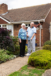 Annette and Raymond Timmins who have Neighbouring pensioners have forked out thousands on a fierce 11-year battle with the owner of a neighbouring property - over a 76cm strip of land in a car park near their homes. Maidenhead, September 12 2018.