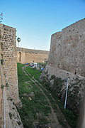Israel, Acre, the moat of the old city walls