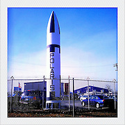 A Polaris Missile shell sits in a parking lot Thursday, January 19, 2012, in Suitland, MD...Photo by Khue Bui