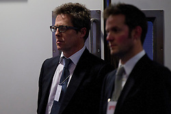 © Licensed to London News Pictures. 29/11/2012. London, UK. Actor Hugh Grant is seen at a press conference in London today (29/11/12) called by campaign group 'Hacked Off' as a reaction to the publishing of the Leveson Inquiry. Photo credit: Matt Cetti-Roberts/LNP