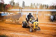 Willis J. Farrington Comes Up Short, Lawn Tractor Pull State Championship, Cedar Grove, North Carolina.