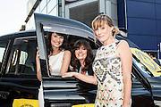 Actors Emma Barton, Vicki Michelle and Kellie Shirley at a promotional event for the film Run for your Wife
