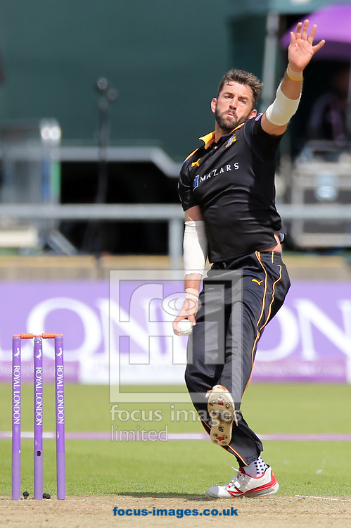 Liam Plunkett of Yorkshire Vikings bowling during the Royal London One Day Cup match at Emirates Riverside, Chester-le-Street<br /> Picture by Simon Moore/Focus Images Ltd 07807 671782<br /> 31/07/2016