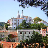 Sintra National Palace in Sintra, Portugal <br />