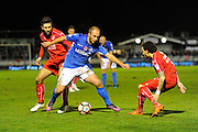 Jake Howells (12) of Eastleigh on the attack during the The FA Cup match between Eastleigh and Swindon Town at Arena Stadium, Eastleigh, United Kingdom on 4 November 2016. Photo by Graham Hunt.
