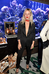 HARRIET VERNEY at a dinner hosted by Creme de la Mer to celebrate the launch of Genaissance de la Mer The Serum Essence held at Sexy Fish, Berkeley Square, London on 21st January 2016.