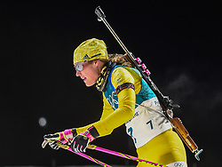 February 12, 2018 - Pyeongchang, Gangwon, South Korea - Hanna Oeberg of Sweden competing at Women's 10km Pursuit, Biathlon, at olympics at Alpensia biathlon stadium, Pyeongchang, South Korea. on February 12, 2018. (Credit Image: © Ulrik Pedersen/NurPhoto via ZUMA Press)